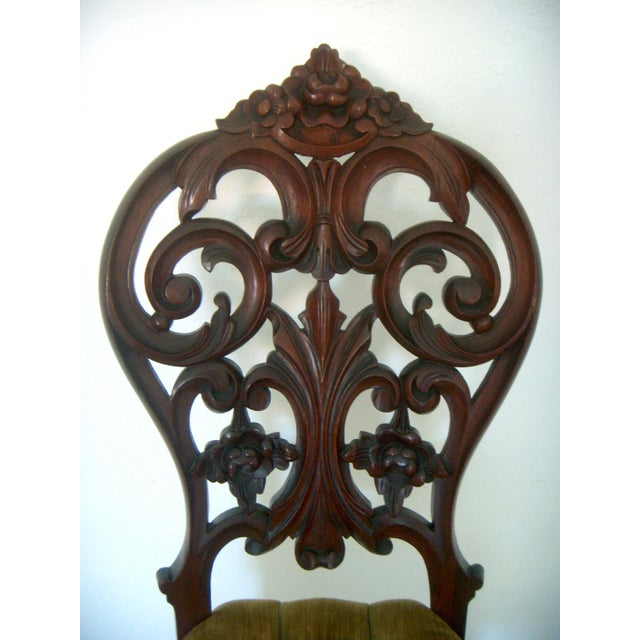 Ornate High Back Accent Chair - Image 5 of 6