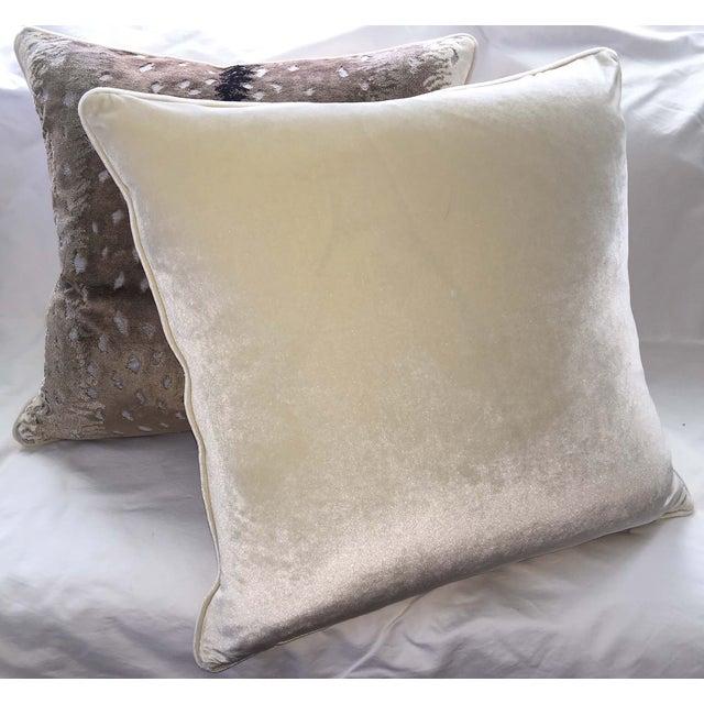 Belgian Antelope Velvet Pillows - A Pair - Image 3 of 4