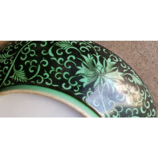 Green Dragon Charger Plate For Sale - Image 4 of 6