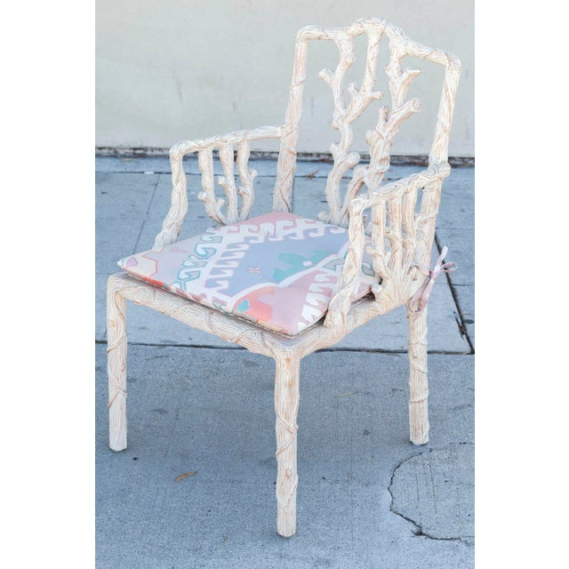 Decorative Branch Faux-Bois Chairs - Set of 4 - Image 2 of 10