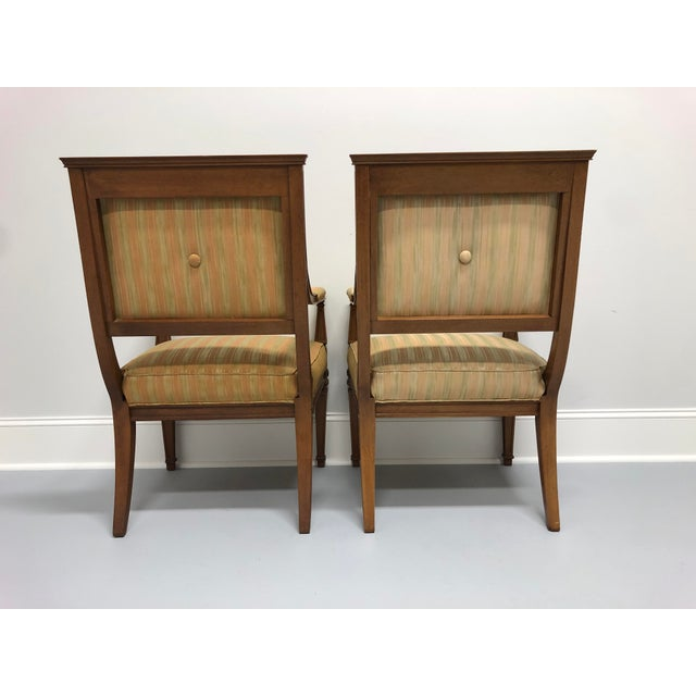 1960s Vintage Mid 20th Century French Provincial Louis XVI Lounge Chairs - a Pair For Sale - Image 5 of 13
