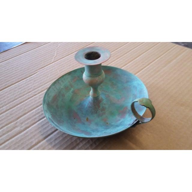 Vintage Bronze Candle Holder I For Sale - Image 4 of 5