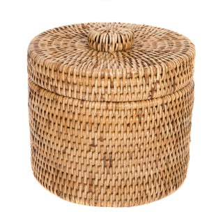 Artifacts Rattan Round Single Tissue Roll Holder For Sale