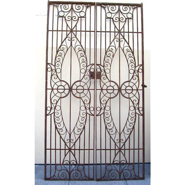 19th C. Egyptian Iron Gates - A Pair - Image 3 of 6