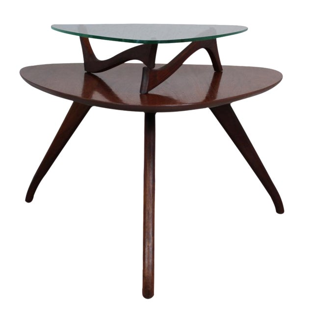 Vladimir Kagan-Style Two-Tier Side Table For Sale