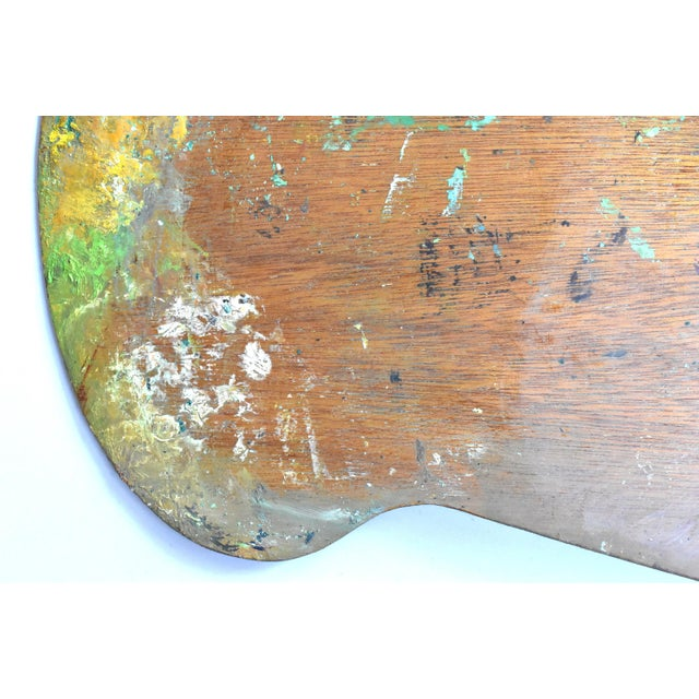 Vintage Large Mid-Century Artist's Palette For Sale - Image 4 of 7