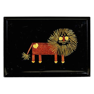 Couroc Lion Plastic Serving Tray For Sale