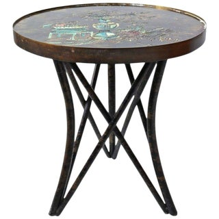 Philip and Kelvin LaVerne 'Still Life' Side Table in Patinated Bronze For Sale