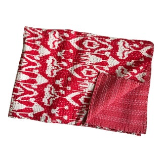 Vintage Ikat Kantha Throw