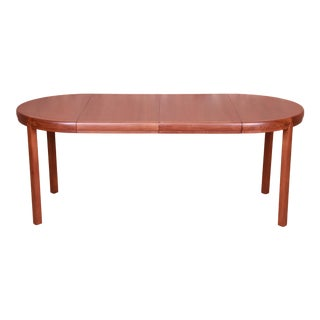 Michael Taylor for Baker Furniture Walnut Extension Dining Table, Newly Refinished For Sale