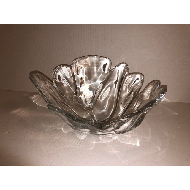Transparent 1980s Large Natura Center Piece by Holmegaard Glass for Royal Copenhagen For Sale - Image 8 of 8