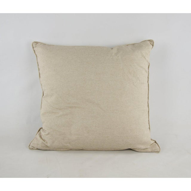 Natural Gradient Feather Down Throw Pillow For Sale In Atlanta - Image 6 of 7