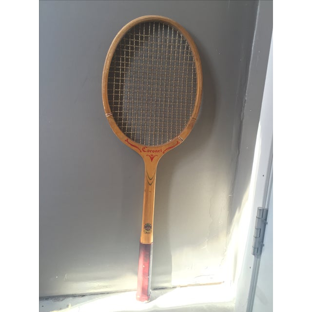 Vintage Coronet Wood Tennis Racket - Image 4 of 9