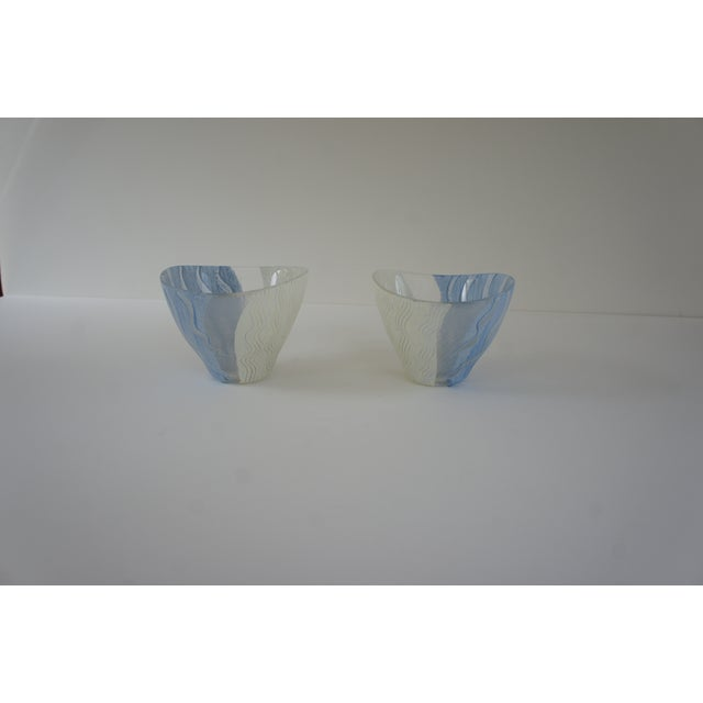 2000 - 2009 Kosta Boda Monica Backstrom Hand-Painted Bowls - a Pair For Sale - Image 5 of 11