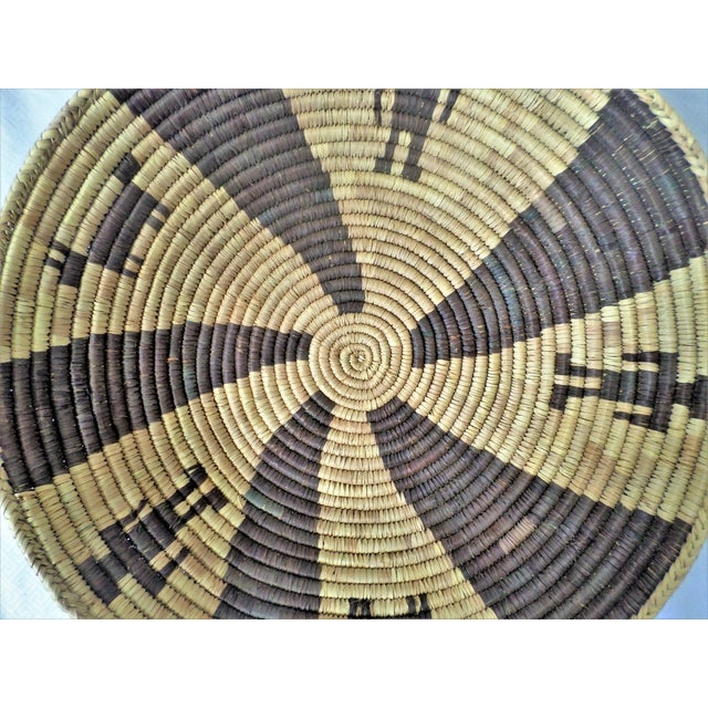 Indian Native American Kumeyaay Mission Tribal Basket For Sale - Image 4 of 10