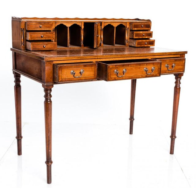 19th Century English Traditional Ladies Writing Table For Sale - Image 4 of 4