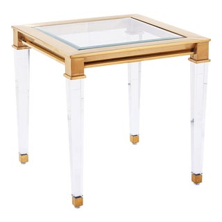 Blink Home Gold Side Table For Sale
