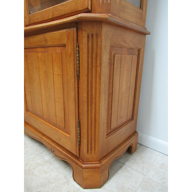 Brown Ethan Allen Legacy French County Server China Cabinet For Sale - Image 8 of 13