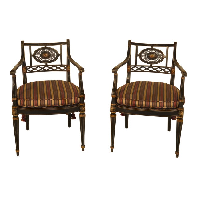 Smith & Watson Regency Decorated Armchairs - A Pair - Image 1 of 11