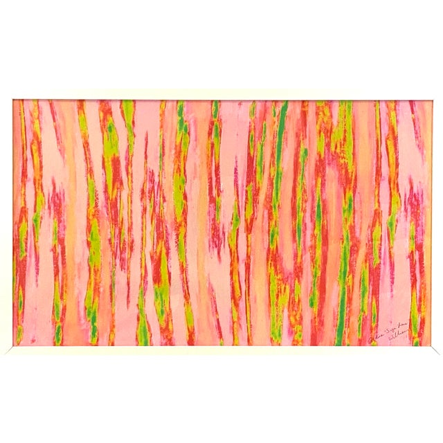 """Abstract Pink Green """"Enlightened Terrain"""" Artist's Print by Suga Lane For Sale - Image 13 of 13"""