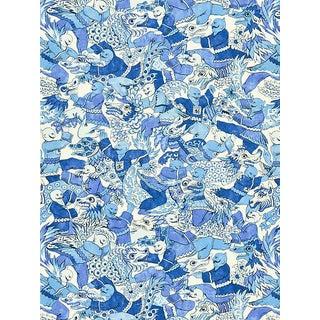 Sample, Scalamandre Dragon Dance, Porcelain Fabric For Sale