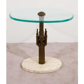 Pair Midcentury Italian Brass Glass and Marble Side Tables Preview