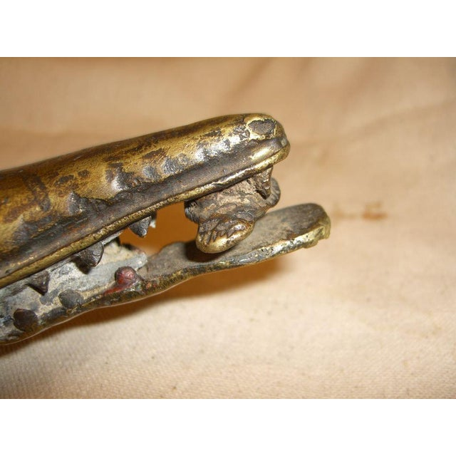 Gold Late 20th Century African Bronze Crocodile Model For Sale - Image 8 of 9