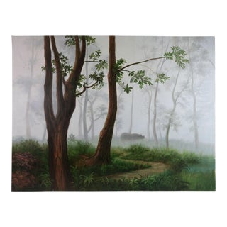 Oil Painting on Canvas Rural Landscape For Sale