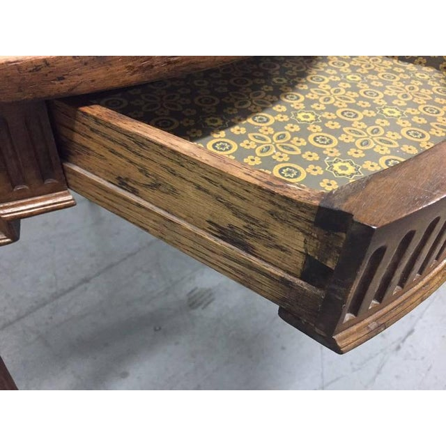 French Parquetry Top Walnut Center Table For Sale In New York - Image 6 of 8
