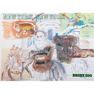 Larry Rivers - New York City Bronx Zoo Poster