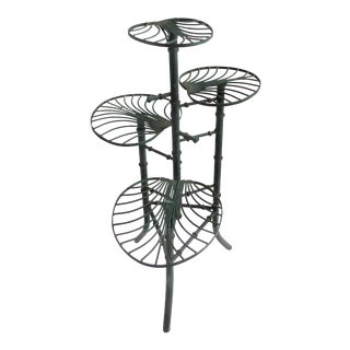 Iron Faux-Bamboo 4-Tier Plant Stand