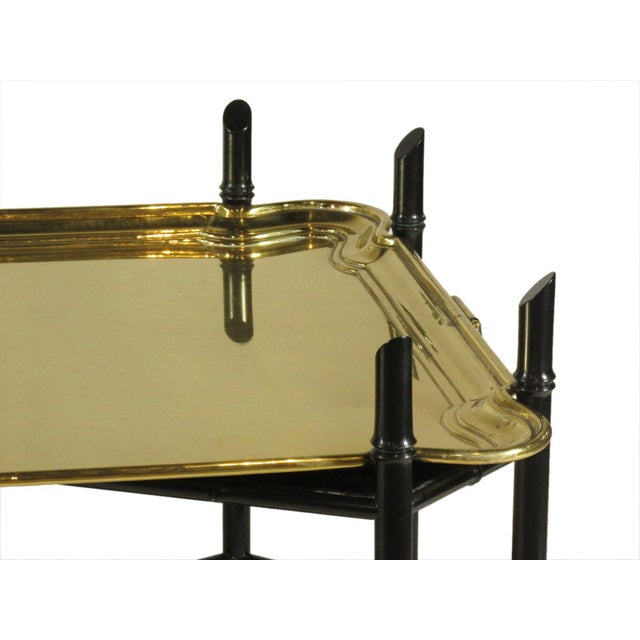 1960s 1960s Regency Style Brass Tea Table For Sale - Image 5 of 11