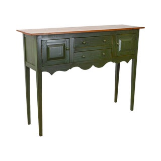 Callowhill Collection Bucks County Hand Made Pine Green Painted Huntboard