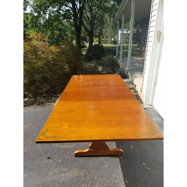 L. Hitchcock Furniture Harvest Trestle Table with 2 Leafs - Image 2 of 8