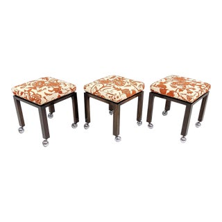 Set of Three Harvey Probber Stools For Sale
