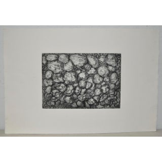 Abstract Black and White Etching by California Artist Arnold Grossman Preview