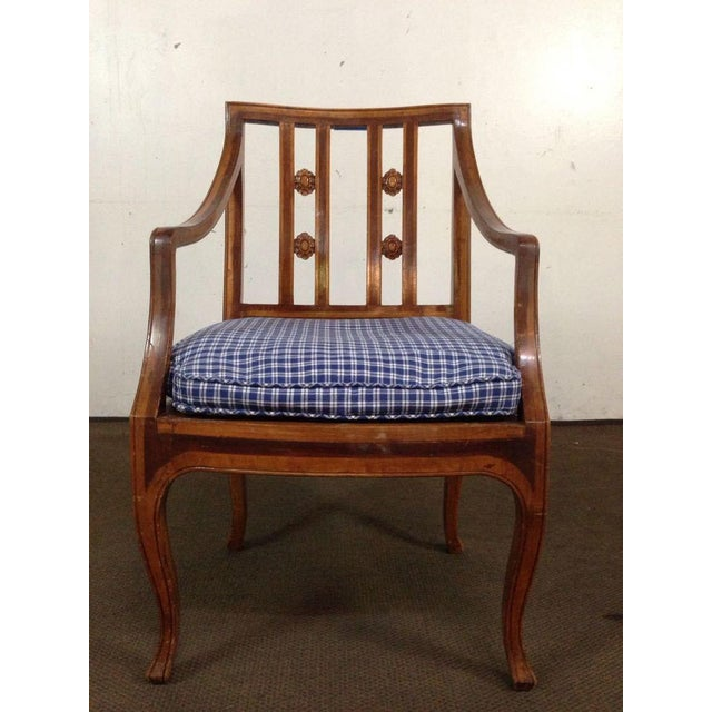 Antique Carved Walnut Armchair - Image 2 of 6