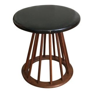 Modernist Wood Stool / Bench in Dunbar Style C.60s/70s