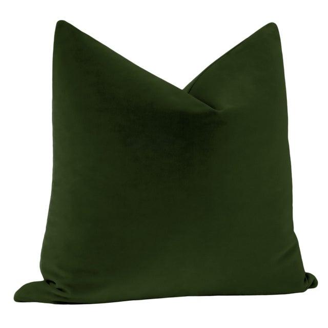 "Contemporary 22"" Fern Italian Velvet Pillows - a Pair For Sale - Image 3 of 5"