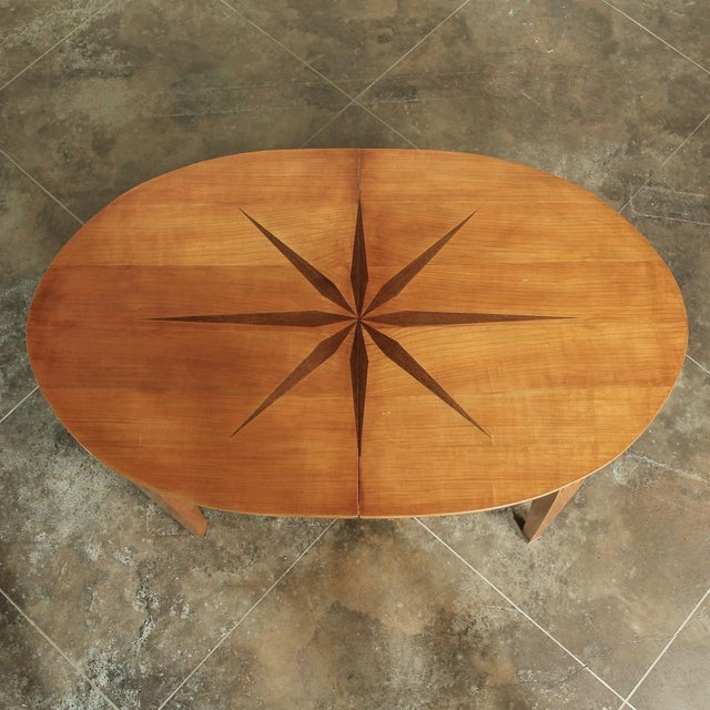 Neoclassical Mid-Century French Directoire Style Inlaid Table For Sale - Image 3 of 13
