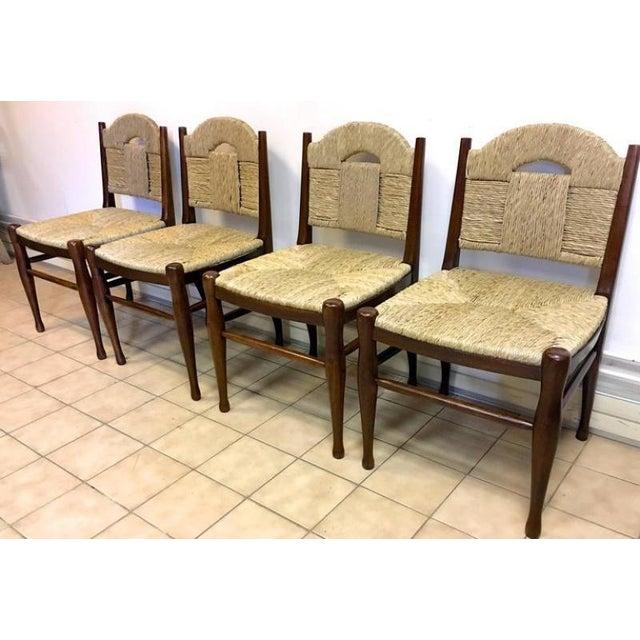 """Rush J.E.Ruhlmann Rare Set of Four Chairs Model """"Rendez-Vous Des Pêcheurs De Truite"""" For Sale - Image 7 of 7"""