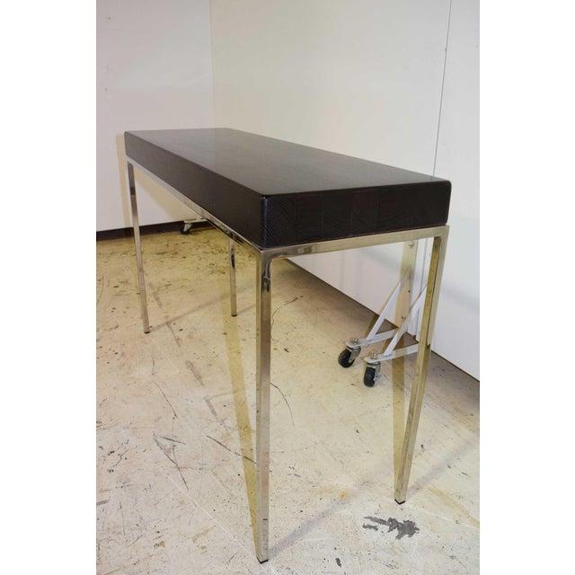 Swaim Swaim Modern Wood Top Side Table For Sale - Image 4 of 6