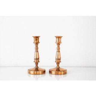 Vintage Classic Brass Candlestick Holders - A Pair Preview