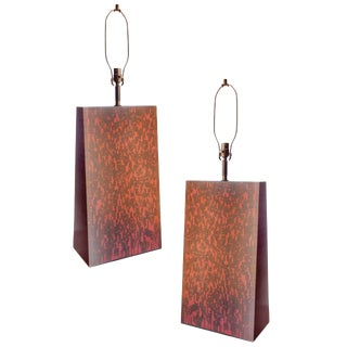 Grand Scale Sculpural Table Lamps For Sale
