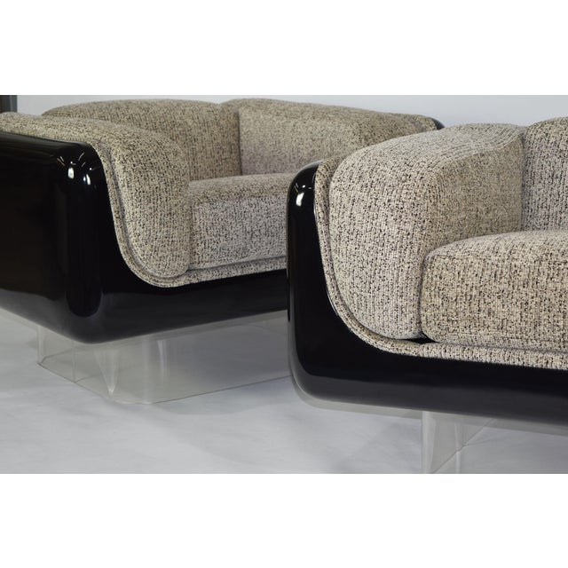 This is a super great pair of fully restored lounge chairs by William Andrus for Steelcase. Dated 1978. The chairs are...