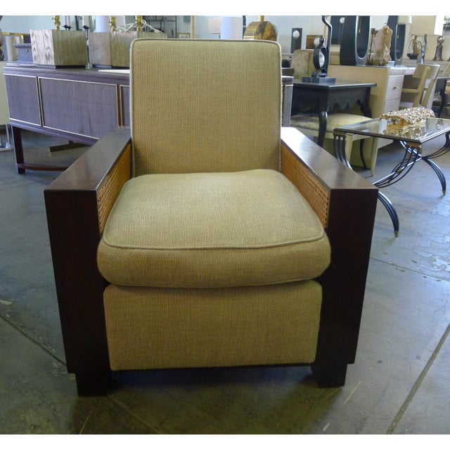 Paul Marra Max Walnut & Cane Club Chair For Sale In Los Angeles - Image 6 of 8