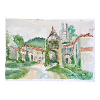 Les Ruines Du Gurson, P. Gaillardot, 1950s For Sale