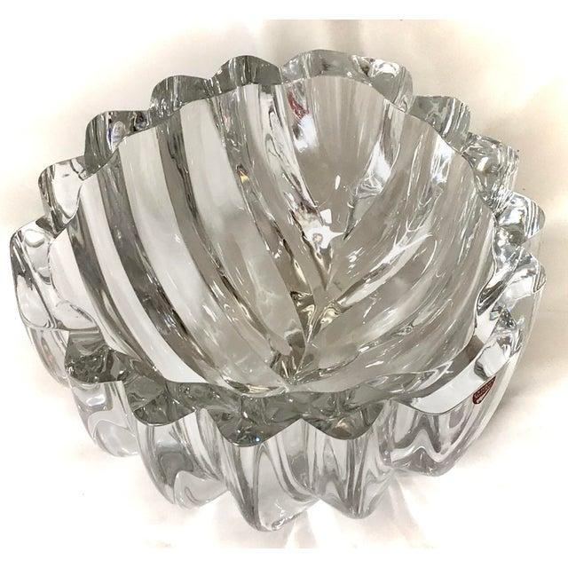 1970s 1970s Orrefors Swedish Signed Crystal Isabella Bowl For Sale - Image 5 of 12