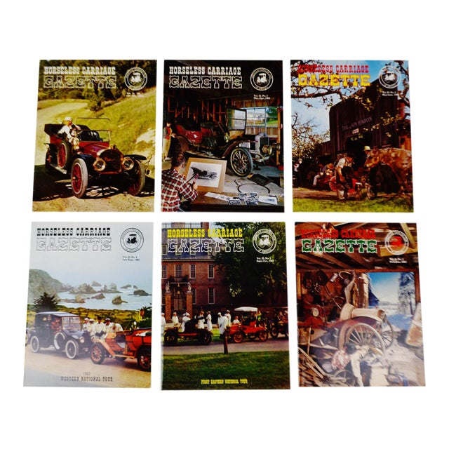 Horseless Carriage Gazette Magazines - 1963 Full Year - Collectible - Image 1 of 11