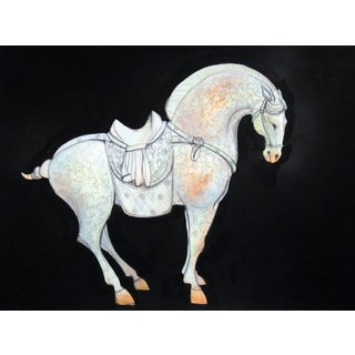 Tang Horse Scroll II Painting by Heidi Lanino For Sale